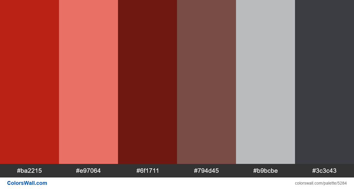 Clean typography web design colors palette - #5284