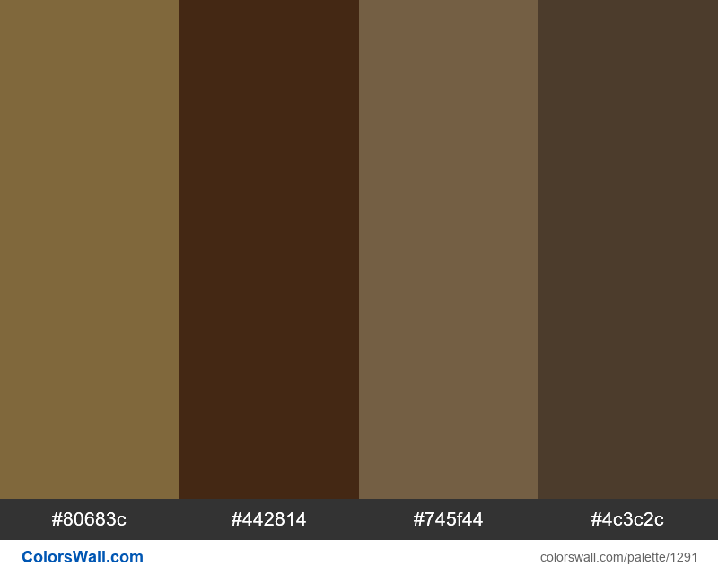 Coffee color palette - #1291