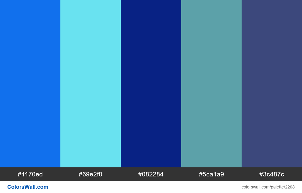 Cold Blue Colors Scheme 2208