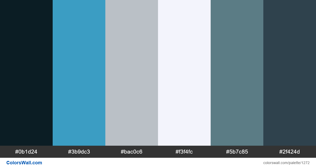 Cold forest color palette - #1272