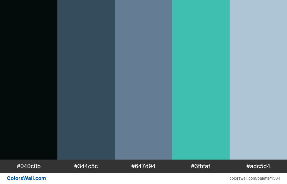 Cold sea colors palette - #1304
