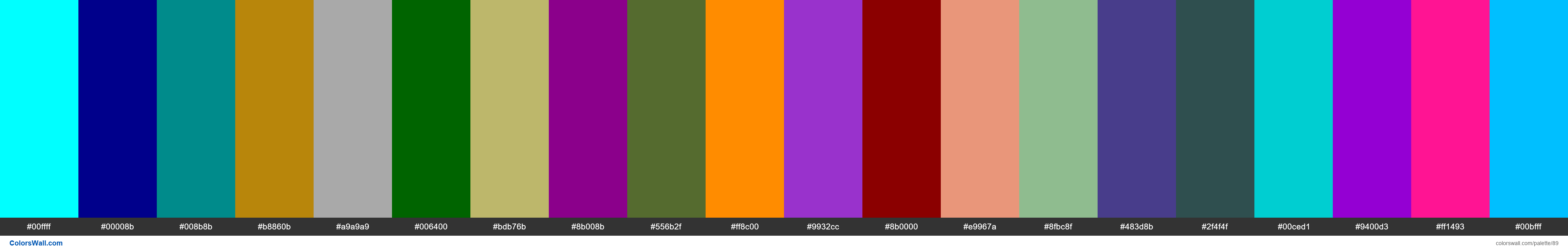 Color Names Supported by All Browsers Page#2 - #89
