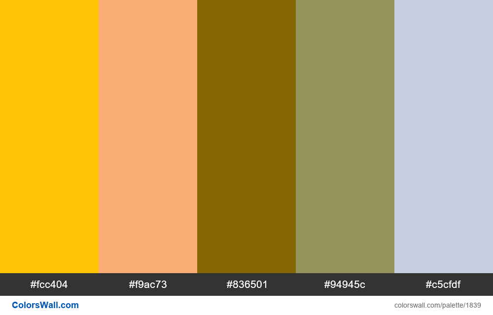 Color palette inspiration - #1839