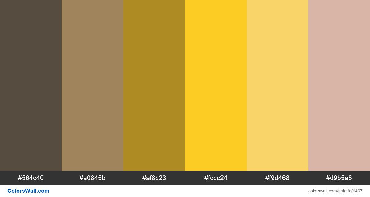 Colors palette - #1497