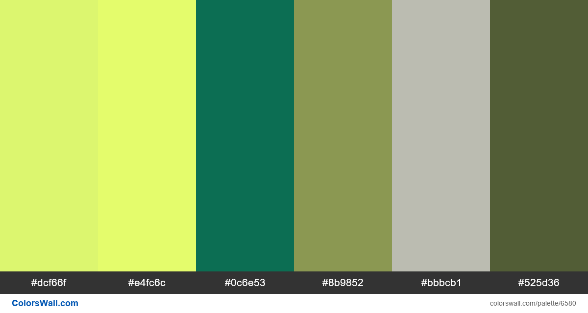 colors palette - #6580