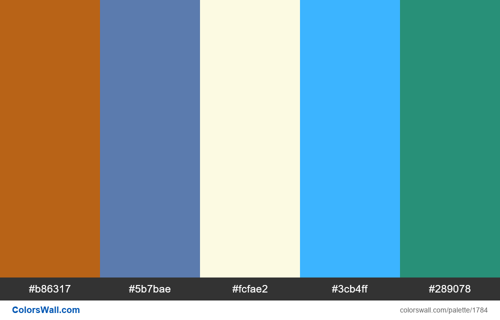 #colorswall palette #1004 - #1784