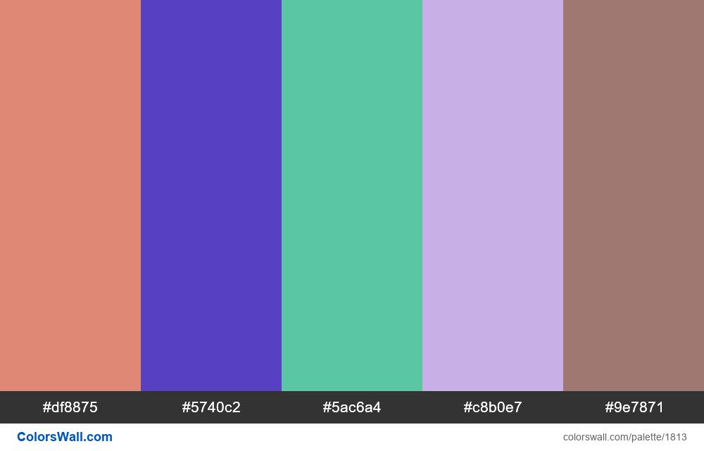 #colorswall palette #1026 - #1813