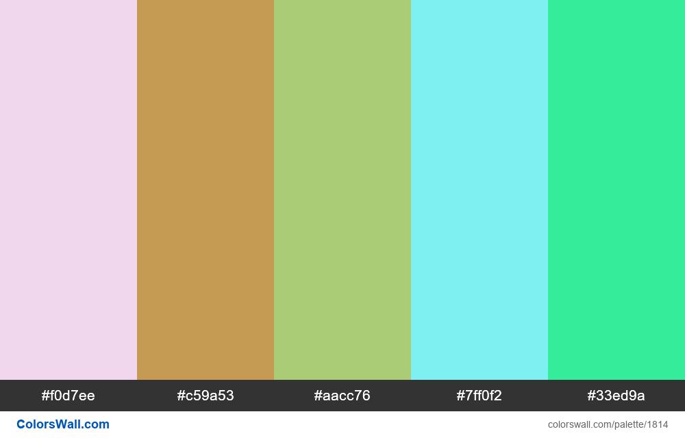 #colorswall palette #1028 - #1814