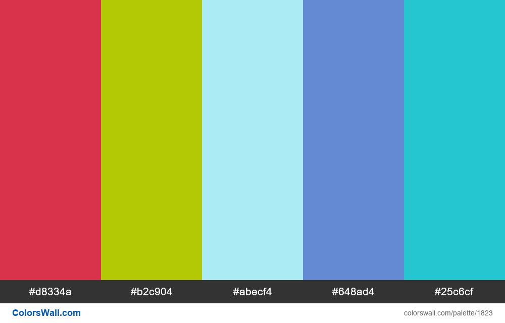 #colorswall palette #1035 - #1823