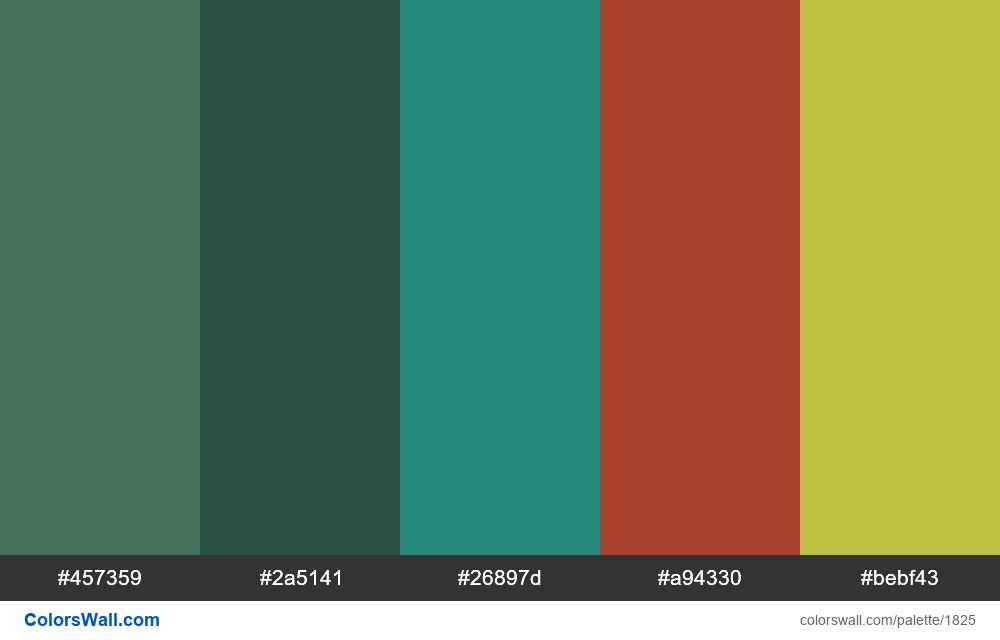 #colorswall palette #1037 - #1825