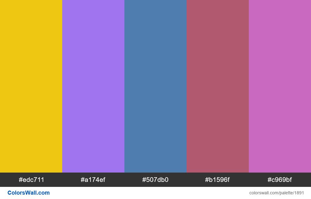 #colorswall palette #1086 - #1891