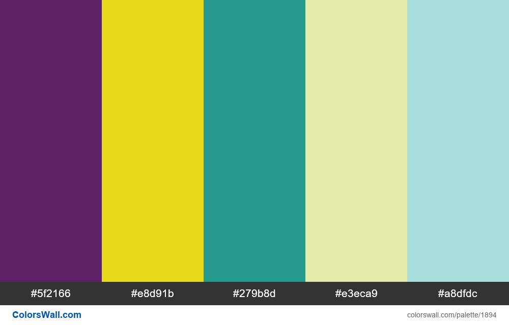 #colorswall palette #1089 - #1894