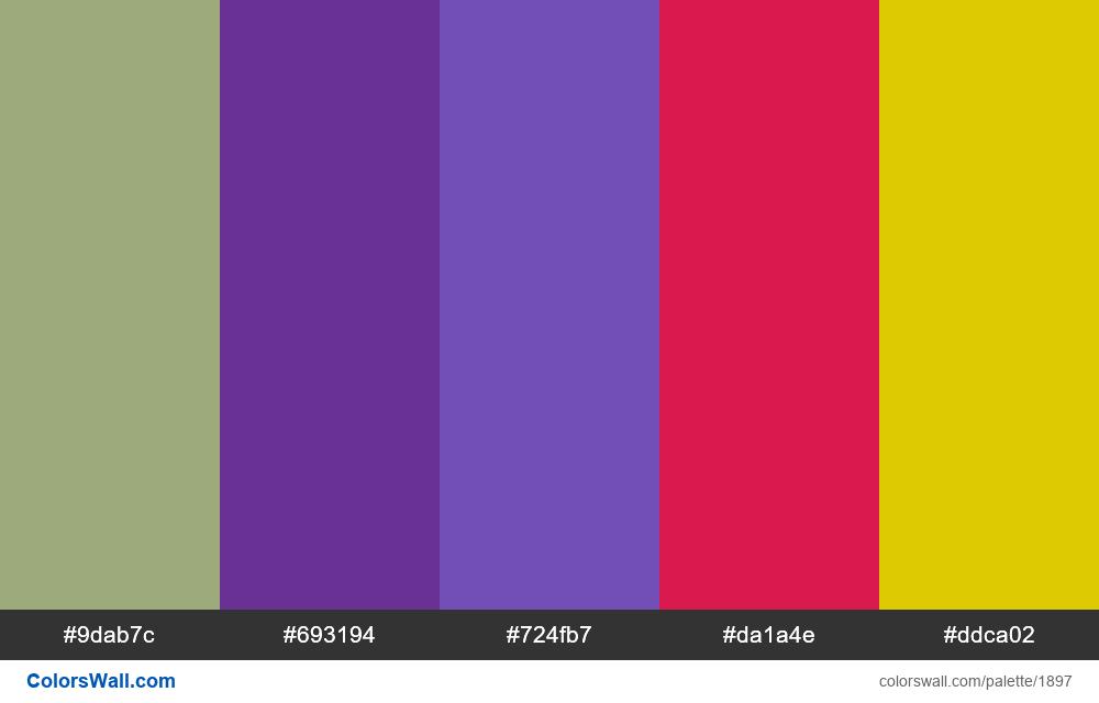 #colorswall palette #1092 - #1897