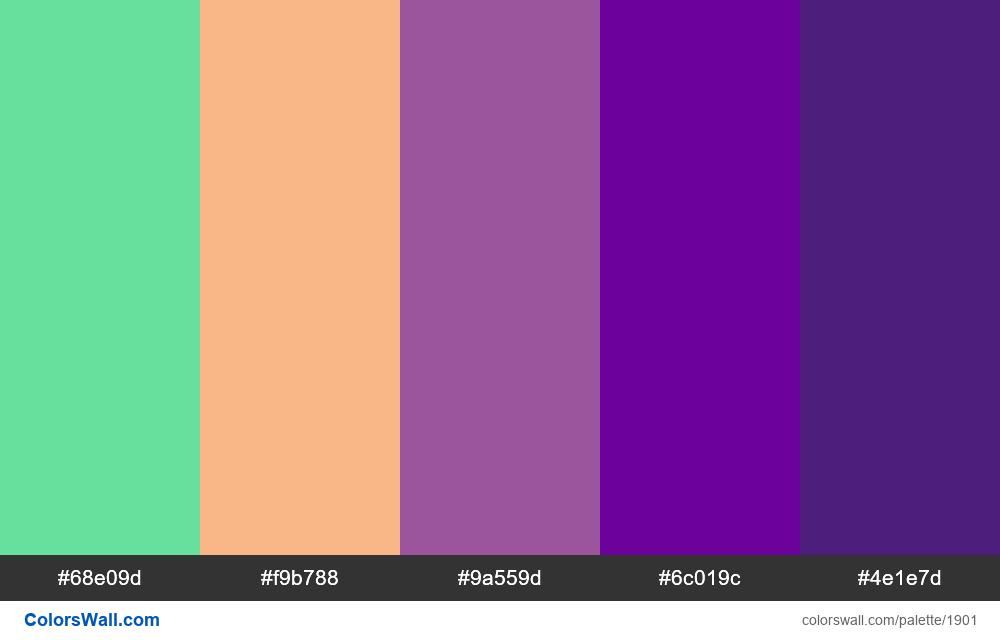 #colorswall palette #1096 - #1901
