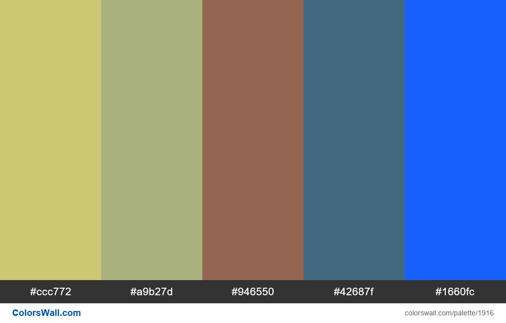 #colorswall palette #1111 - #1916