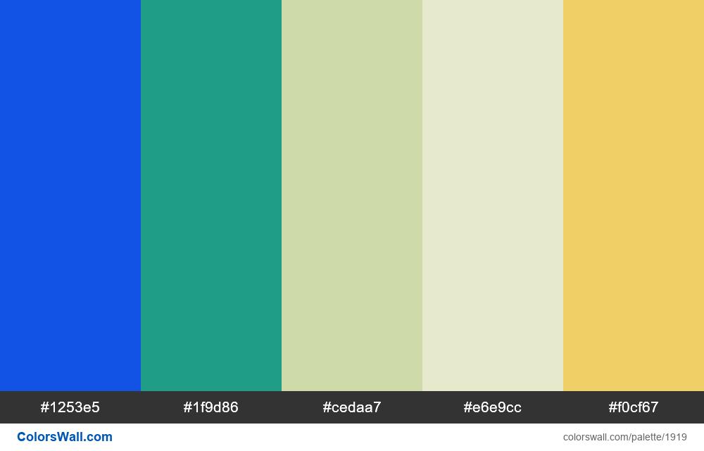 #colorswall palette #1114 - #1919