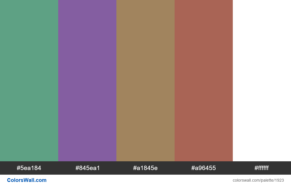 #colorswall palette #1118 - #1923
