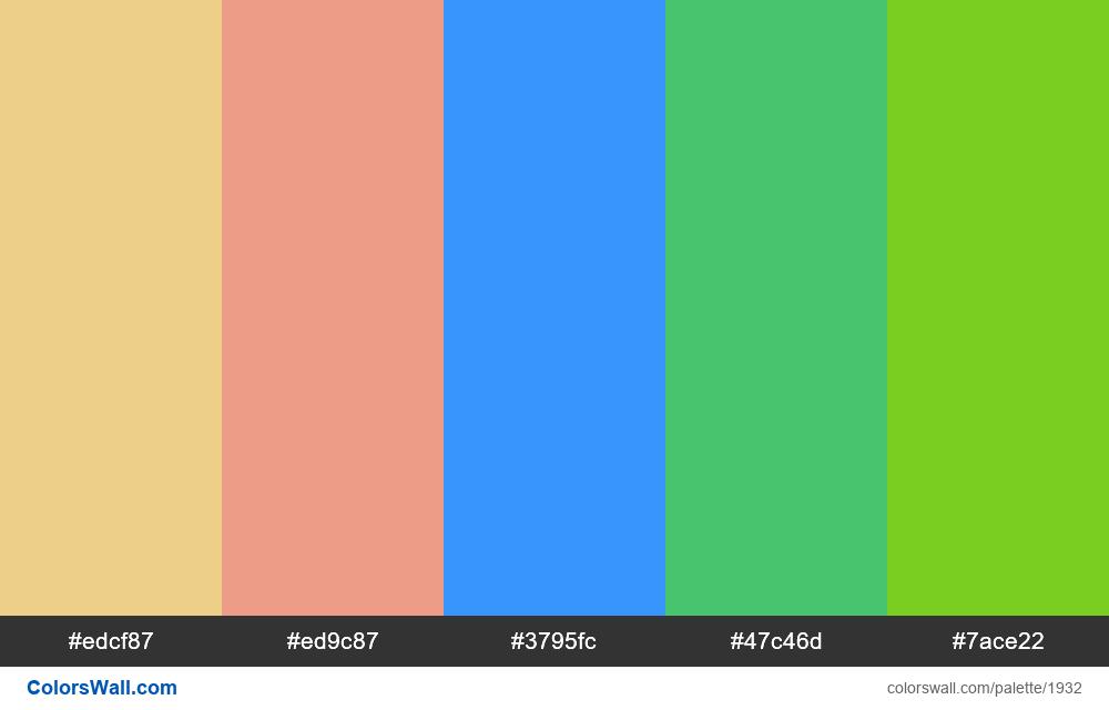 #colorswall palette #1126 - #1932