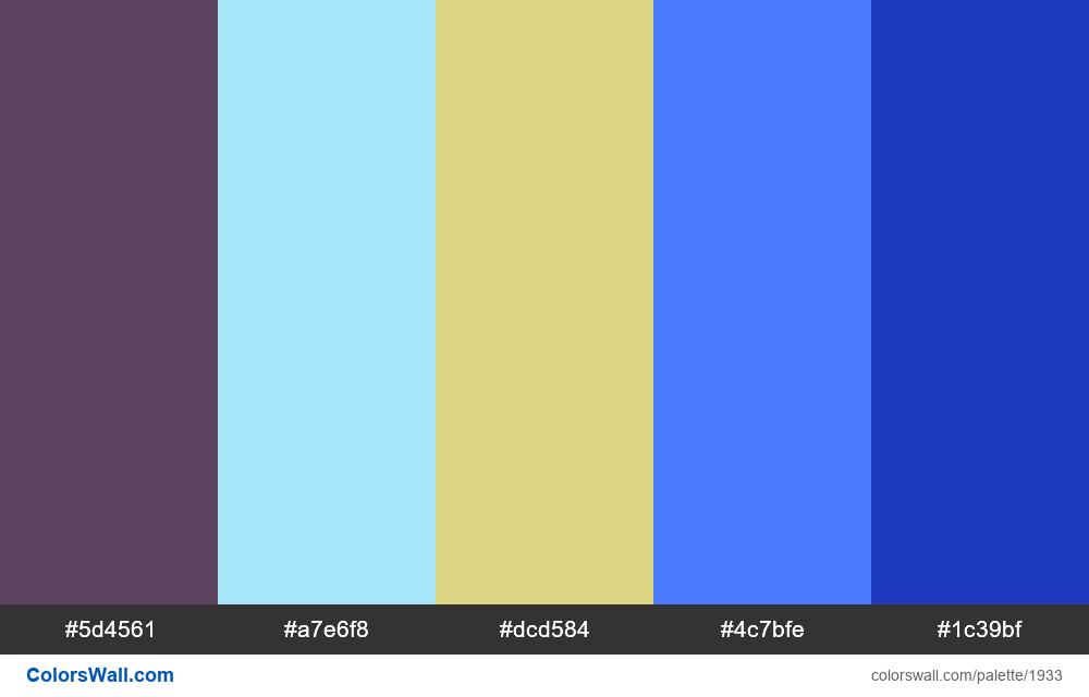 #colorswall palette #1127 - #1933