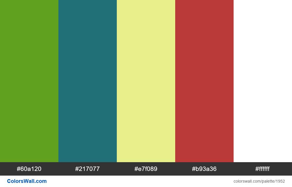 #colorswall palette #1141 - #1952