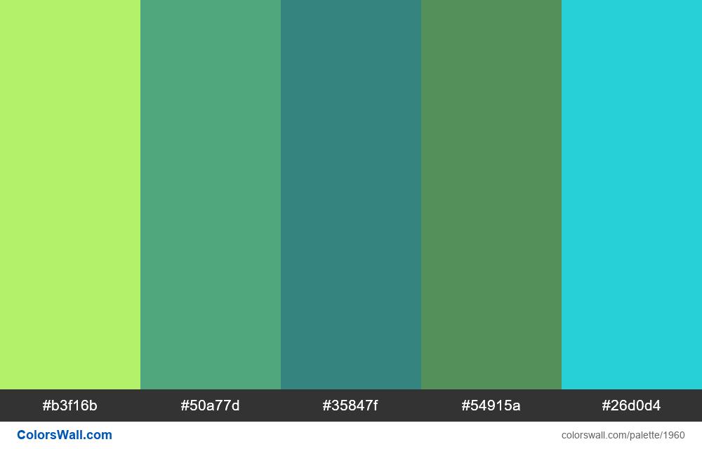 #colorswall palette #1149 - #1960