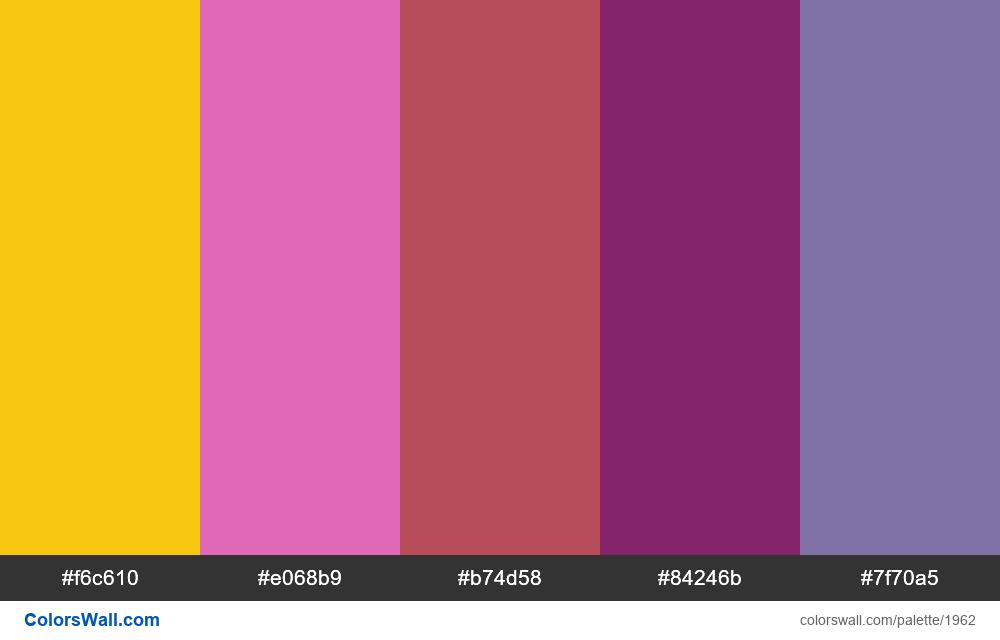 #colorswall palette #1151 - #1962