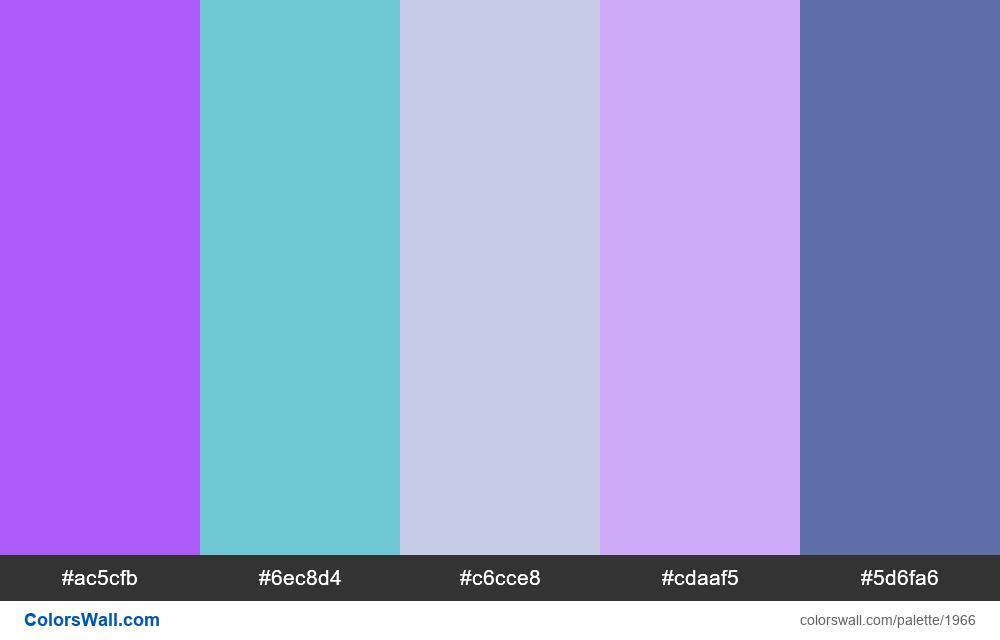 #colorswall palette #1155 - #1966