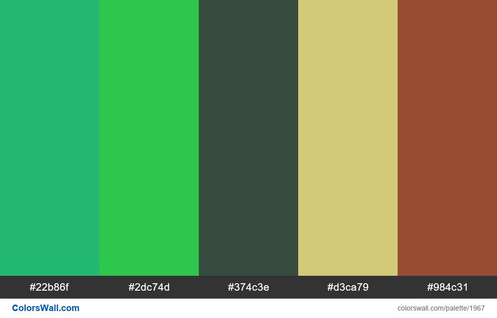 #colorswall palette #1156 - #1967