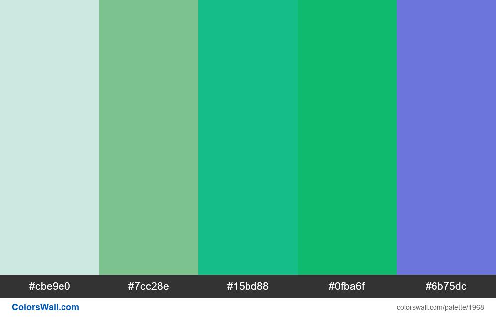 #colorswall palette #1157 - #1968