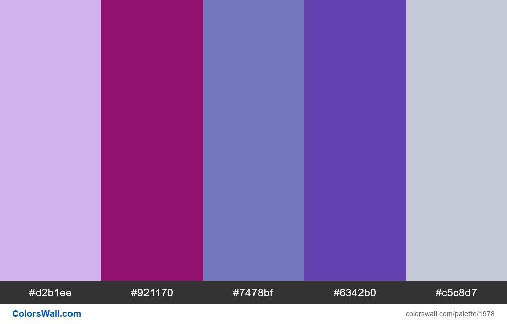 #colorswall palette #1167 - #1978
