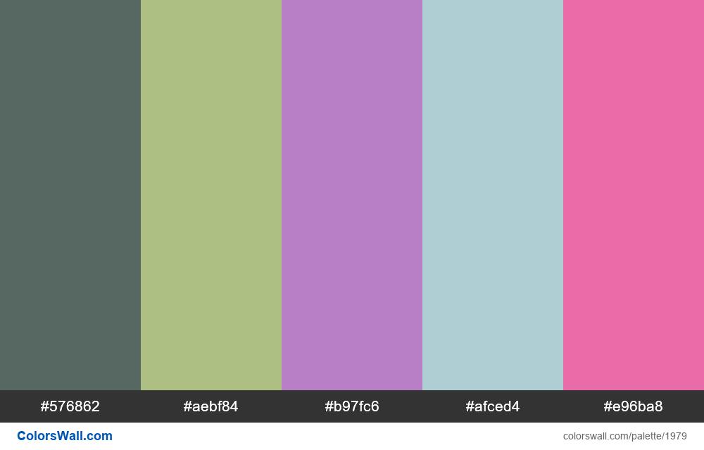 #colorswall palette #1168 - #1979