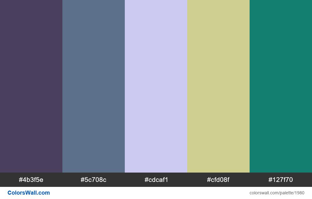 #colorswall palette #1169 - #1980