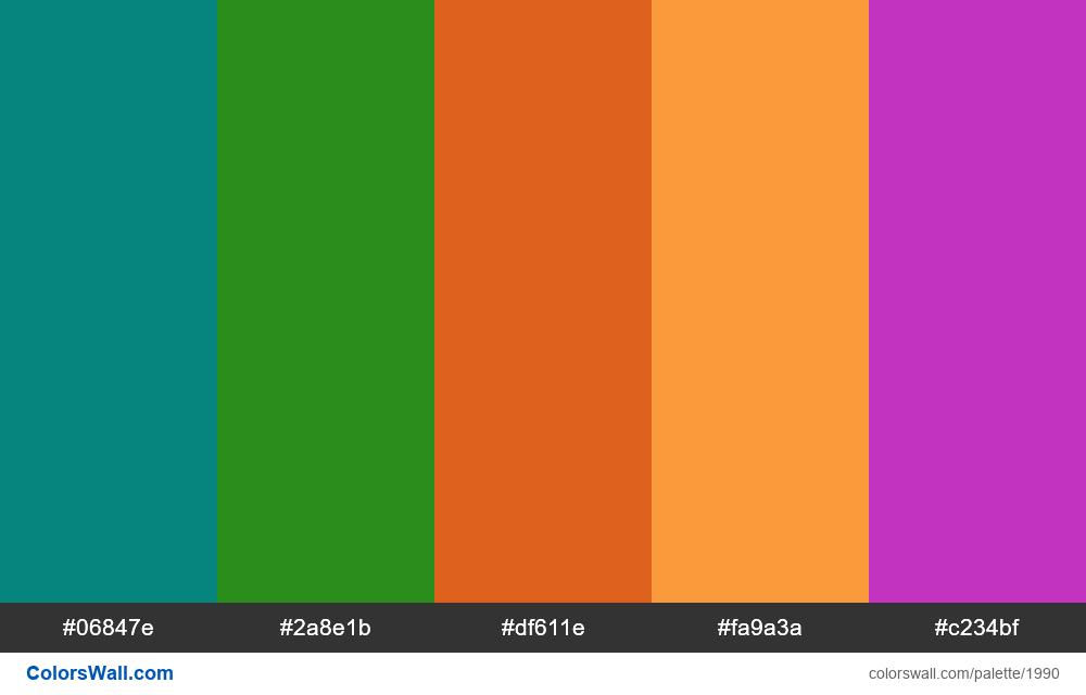 #colorswall palette #1177 - #1990