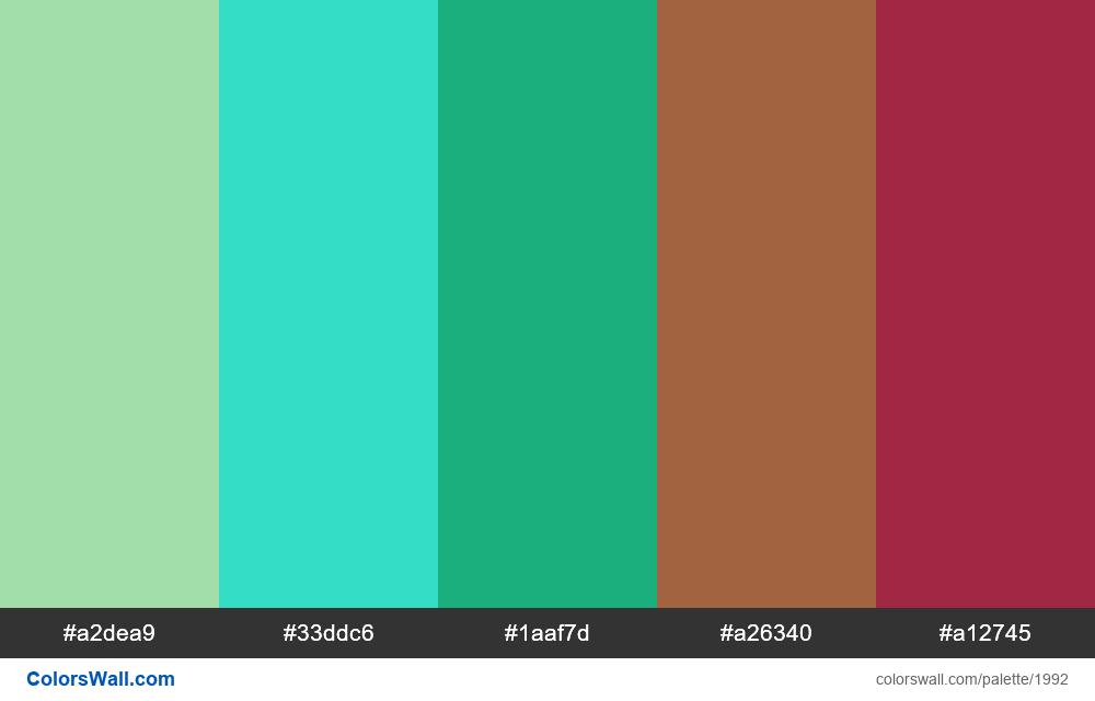 #colorswall palette #1180 - #1992