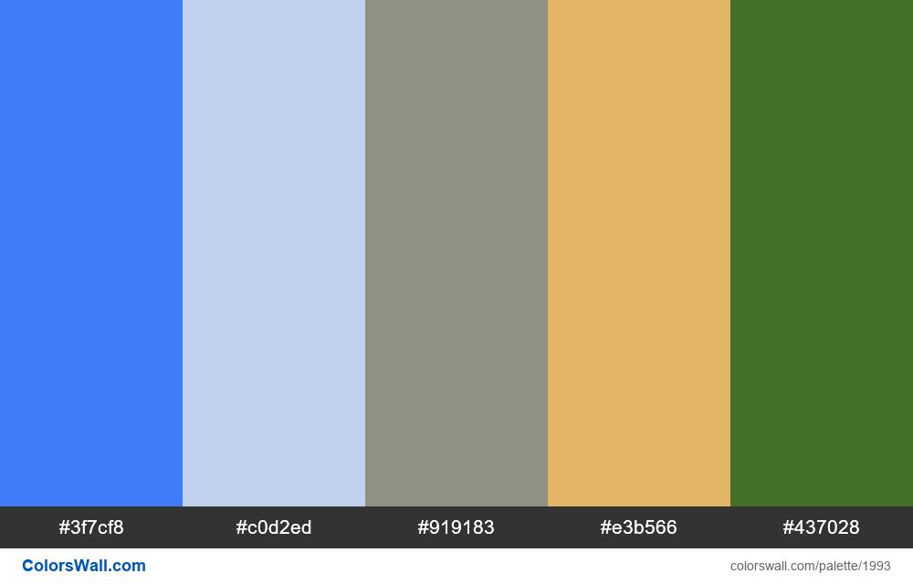 #colorswall palette #1181 - #1993