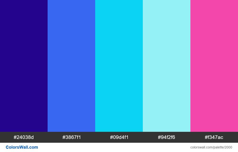 #colorswall palette #1188 - #2000