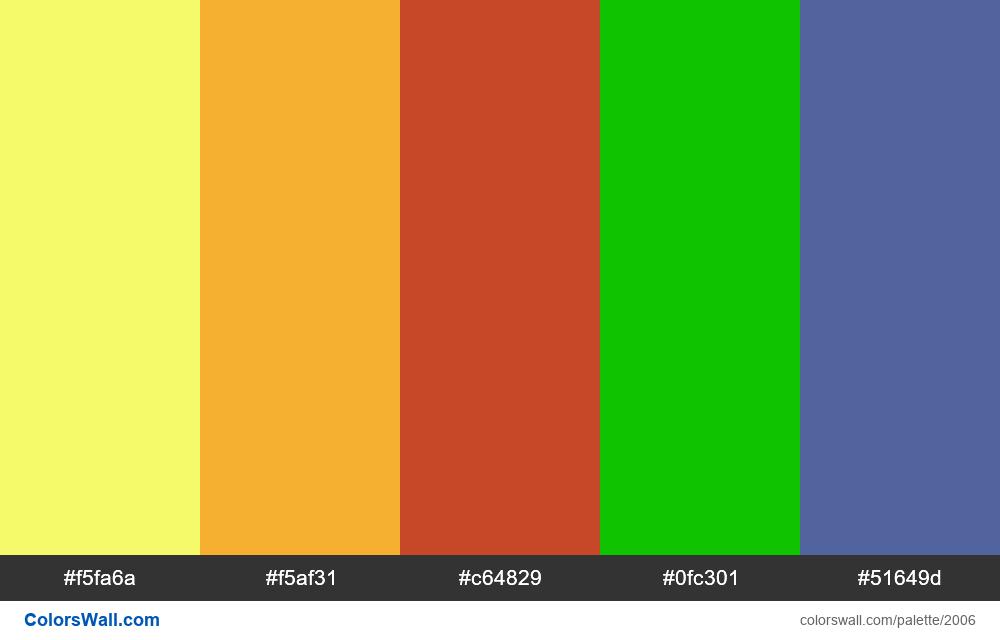#colorswall palette #1194 - #2006