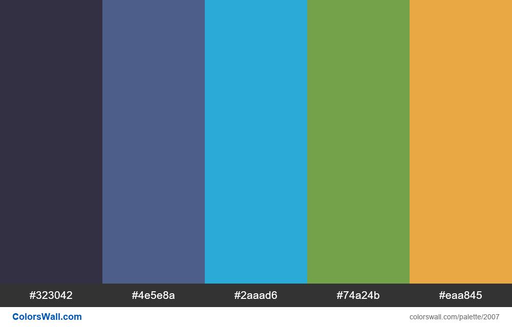 #colorswall palette #1195 - #2007