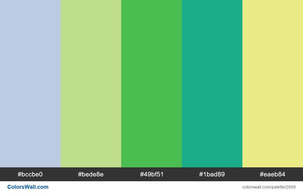 #colorswall palette #1197 - #2009