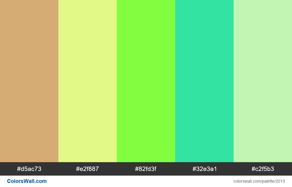 #colorswall palette #1201 - #2013