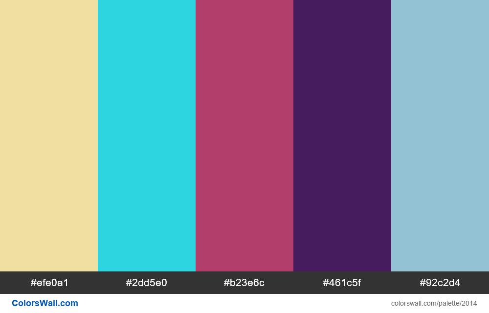 #colorswall palette #1202 - #2014
