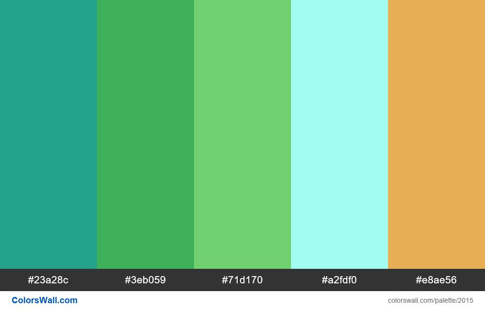 #colorswall palette #1203 - #2015