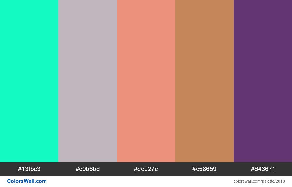 #colorswall palette #1206 - #2018