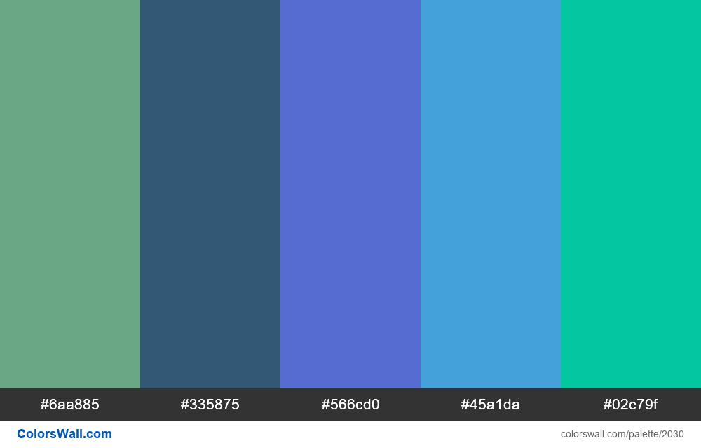 #colorswall palette #1218 - #2030
