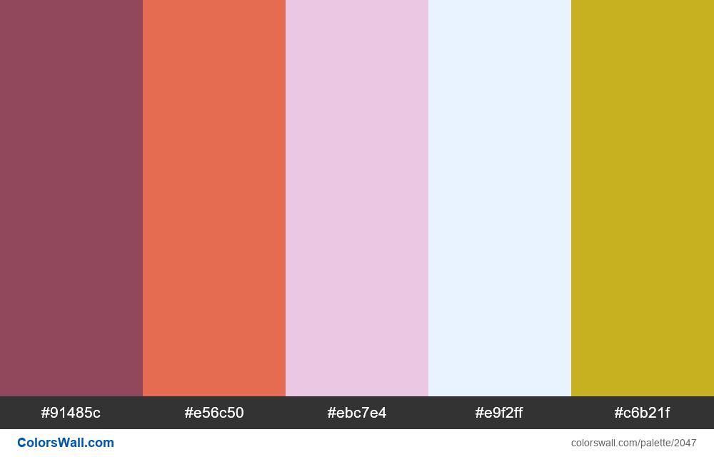 #colorswall palette #1231 - #2047