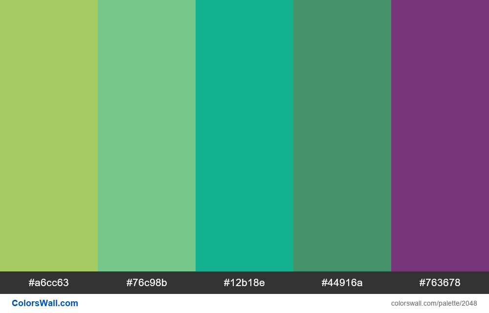 #colorswall palette #1232 - #2048
