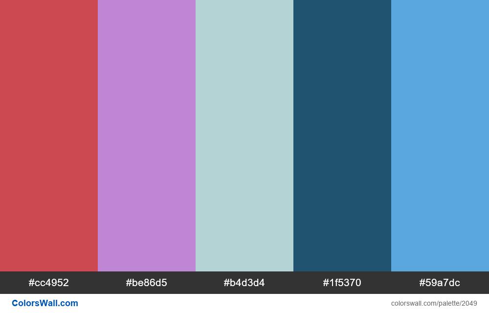 #colorswall palette #1233 - #2049
