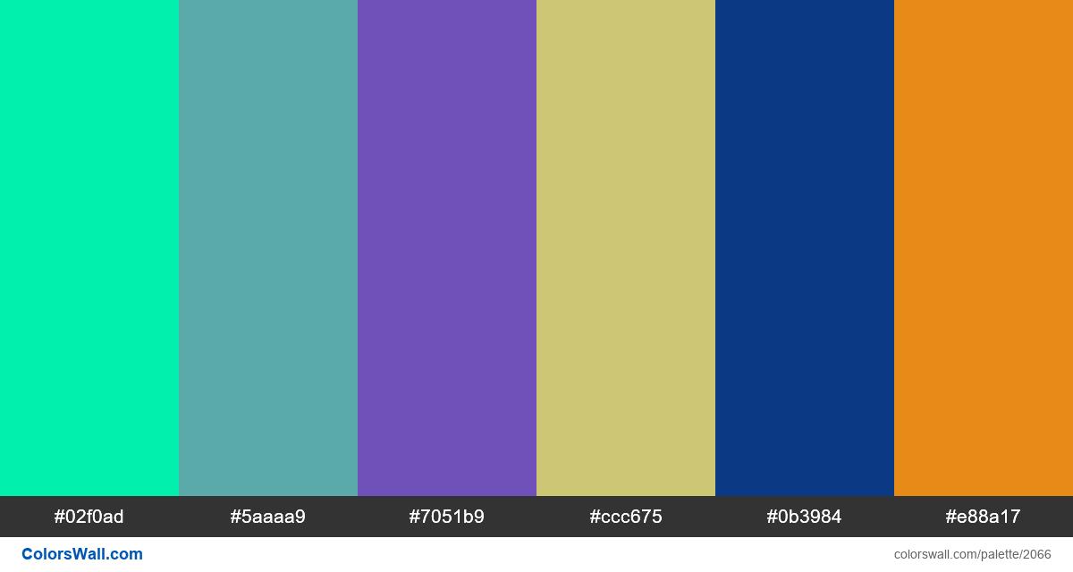 #colorswall palette #1237 - #2066
