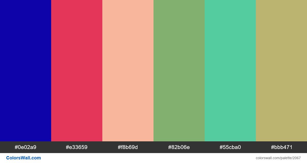 #colorswall palette #1238 - #2067