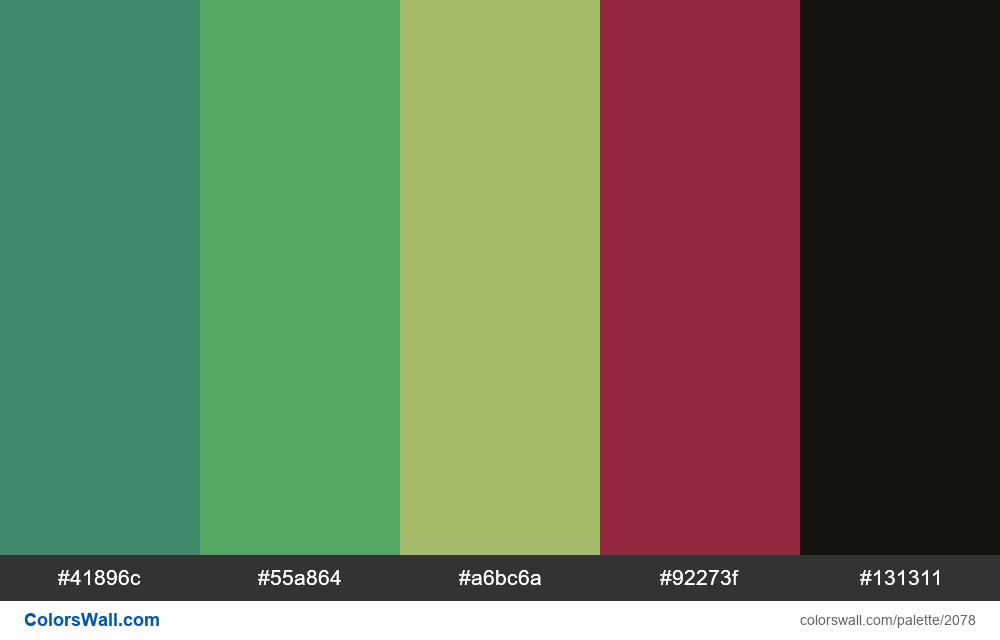 #colorswall palette #1247 - #2078